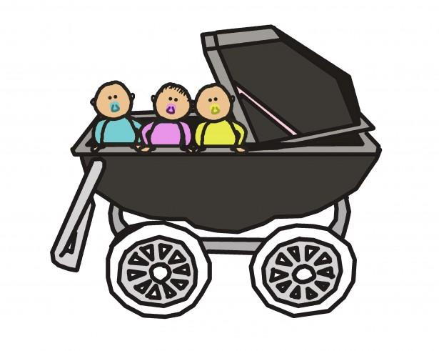 triplet-babys-in-stroller